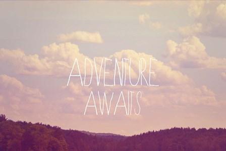 Adventure Awaits I by Vintage Skies art print