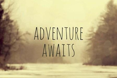Adventure Awaits II by Vintage Skies art print