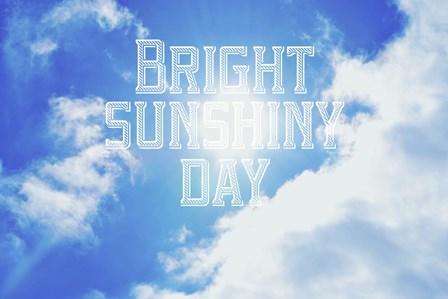 Bright Sunshiney Day by Vintage Skies art print