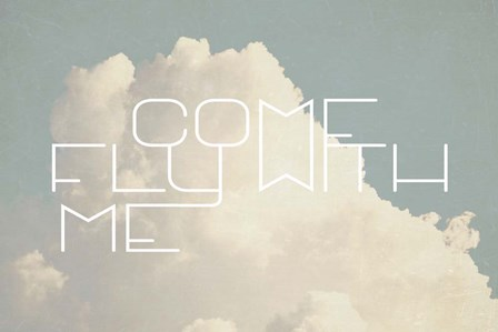 Come Fly With Me by Vintage Skies art print