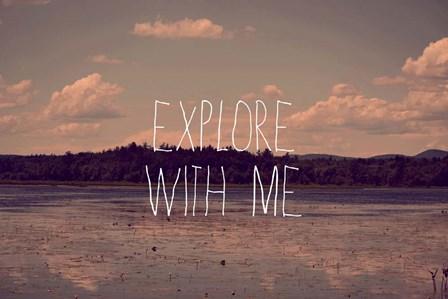 Explore With Me by Vintage Skies art print