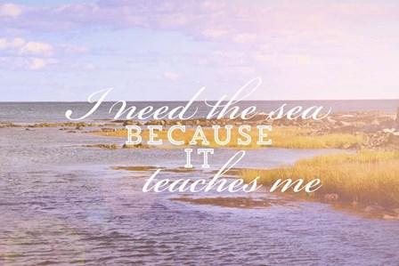 I Need The Sea by Vintage Skies art print