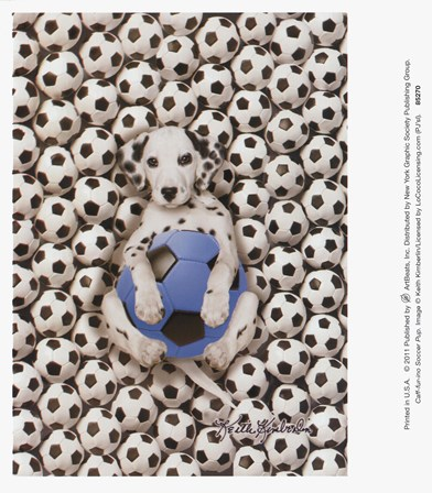 Caff-Fur-Ino Soccer Pup art print