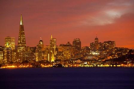San Francisco Financial District at Dusk, San Francisco, California by Panoramic Images art print