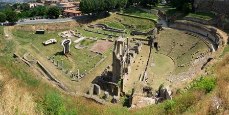 Ruins of Roman Theater, Volterra, Tuscany, Italy by Panoramic Images art print