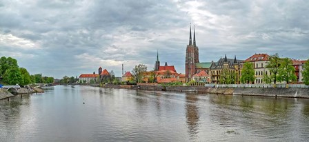 Oder river and Cathedral island in Wroclaw, Poland by Panoramic Images art print