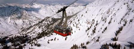 Ride over Snowbird Ski Resort, Utah by Panoramic Images art print