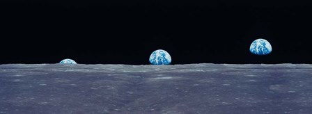 Earth Viewed From The Moon by Panoramic Images art print