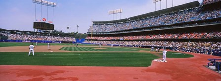 Dodgers vs. Yankees, Dodger Stadium, California by Panoramic Images art print