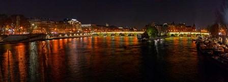 River Seine from Pont des Arts, Paris, Ile-De-France, France by Panoramic Images art print