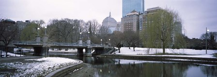 Snow in Boston Public Garden, Suffolk County, Massachusetts by Panoramic Images art print