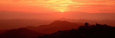 Mountain Range at Sunrise, Tuscany, Italy by Panoramic Images art print