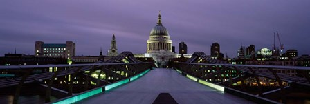 St. Paul's Cathedral, London Millennium Footbridge, England by Panoramic Images art print