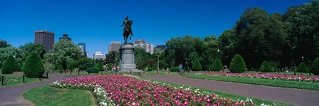 Paul Revere Statue, Boston Public Garden, Massachusetts by Panoramic Images art print