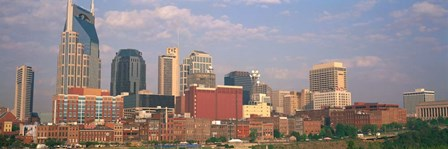 Skyline of Nashville, TN by Panoramic Images art print