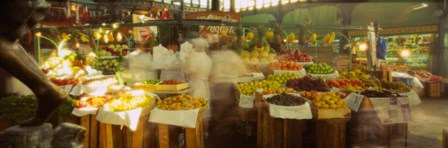 Fruits And Vegetables Market Stall, Santiago, Chile by Panoramic Images art print