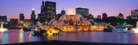 Buckingham Fountain, Chicago, Illinois by Panoramic Images art print