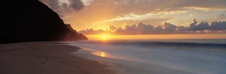 Kalalau Beach Sunset, Hawaii by Panoramic Images art print