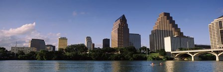 Waterfront Buildings in Austin, Texas by Panoramic Images art print