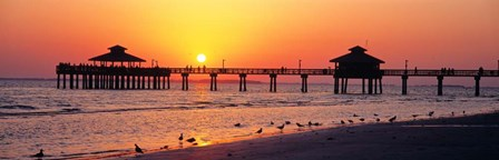 Sunset at Fort Myers Beach, FL by Panoramic Images art print