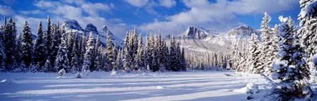 Three Sisters Bow Valley Kananaskis Country Alberta Canada by Panoramic Images art print