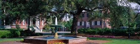 Columbia Square Historic District, Savannah, GA by Panoramic Images art print