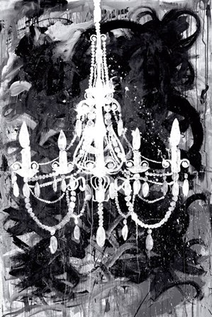 Chandelier Black and White by Kent Youngstrom art print