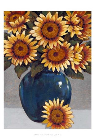 Vase of Sunflowers I by Timothy O'Toole art print