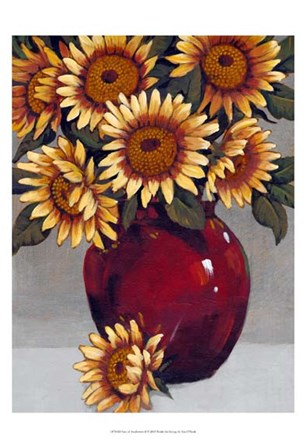 Vase of Sunflowers II by Timothy O'Toole art print