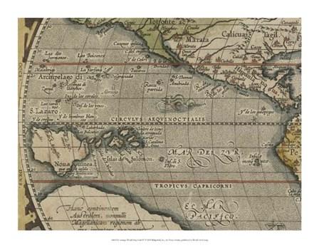 Antique World Map Grid IV by Vision Studio art print