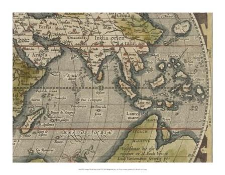 Antique World Map Grid VI by Vision Studio art print