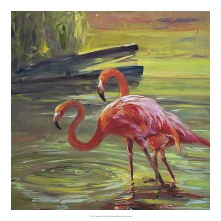 Flamingo III by Chuck Larivey art print