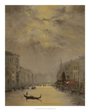 Venice Evening Gold by Chuck Larivey art print