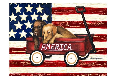 America Friends by Laurie Korsgaden art print