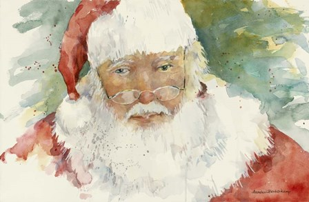 Santa by Annelein Beukenkamp art print