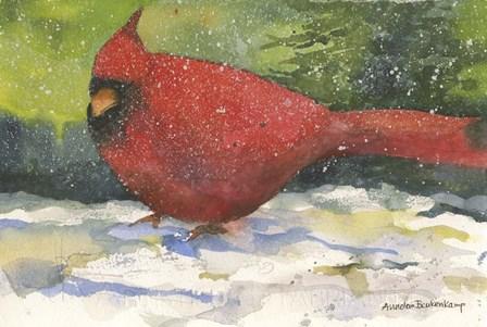 Winter Cardinal by Annelein Beukenkamp art print