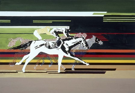 Race Horses by Beverly Doyle art print