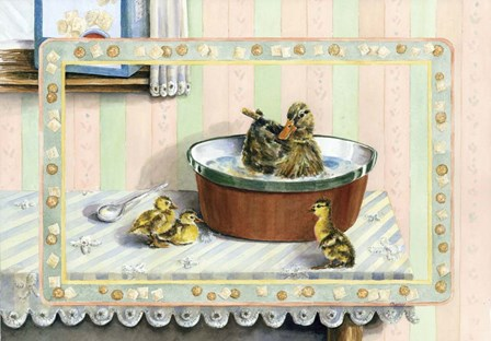 Soup And Quackers by Charlsie Kelly art print