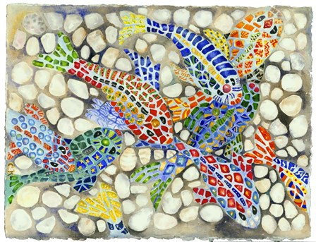 Pebble Pond by Charlsie Kelly art print