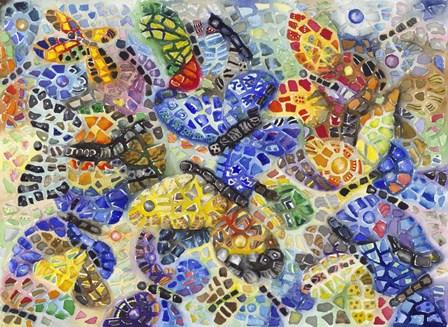Butterflies by Charlsie Kelly art print