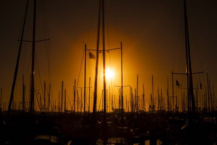 Mast Sunset by Chris Moyer art print