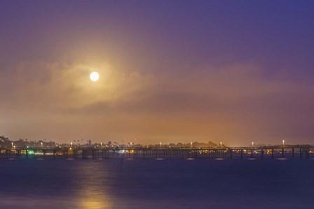 Moonlit Pier by Chris Moyer art print