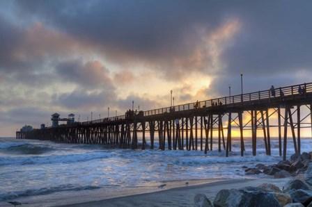 Sunset Through Oceanside Pier by Chris Moyer art print