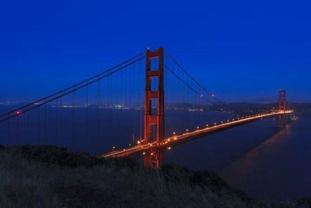 Golden Gate bridge at Night by Galloimages Online art print