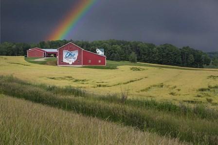 Ohio Farm Rainbow by Galloimages Online art print