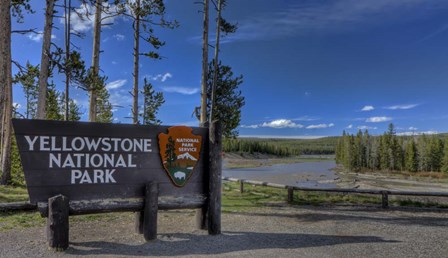 Yellowstone National Park Sign by Galloimages Online art print