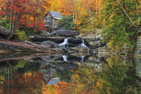 Grist Mill In The Fall by Galloimages Online art print
