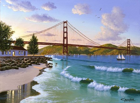 Golden Gate 1940 by Eduardo Camoes art print