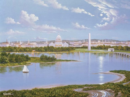 Washington, D. C. In 1885 by Eduardo Camoes art print