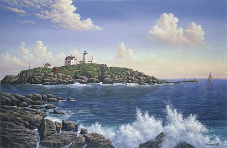 Cape Neddick - Maine by Eduardo Camoes art print